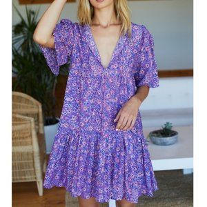 Emerson Fry Isla Dress Violet Wildflower M/L